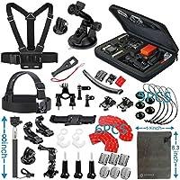 Vanwalk 12-in-1 Kit accessori per GoPro Hero 5 Sessione 4 3+ 3 2 1 Silver Black, macchina fotografica di azione SJCAM SJ4000 / SJ5000 / SJ6000 / dBpower / WiMiUS / Xiaoyi / Xiaomi Yi / TecTecTec