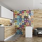 Ambiance-Live col-rv-0388_ 15x 15cm Stickers Adhesivos carrelages,, multicolor, 15x 15cm, Set de 60piezas
