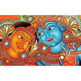 Rabhya International Canvas Radha Krishna Painting For Home Decor And Office, 28x44 Inches(Multicolour)