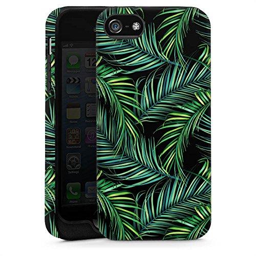 Apple iPhone 6 Housse Outdoor Étui militaire Coque Palmiers Jungle Nature Cas Tough brillant