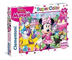 Clementoni- Minnie Puzzle Glitter 104 Piezas,, única (20146)