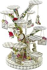 Talking Tables Truly Alice in Wonderland; Häppchenstand für Teekränzchen, Hochzeiten und Geburtstagspartys, Verrückte Hutmacher-Party, Bunt, Höhe 59 cm; Durchmesser 24 cm