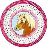 Neu: 8 Party-Teller * Mein Ponyhof * für Kindergeburtstag und Motto-Party   Pferde Pony Reiten Kinder Geburtstag Feier Partyteller Pappteller Motto Mädchen