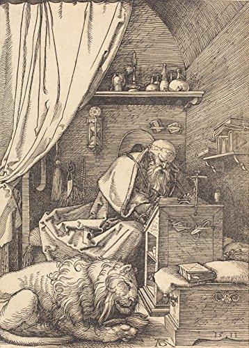 Albrecht Dürer Saint Jerome in seiner Zelle, 1513. 250gsm, Hochglanz, A3, vervielfältigtes...