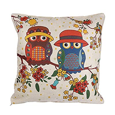 ONEVER Home Decorating Linen Cushion Pillow Cover - low-cost UK light shop.
