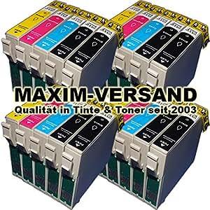 20 x cartouches d 39 encre kit avec toutes les couleurs compatible epson t1631 t1632 t1633 t1634. Black Bedroom Furniture Sets. Home Design Ideas