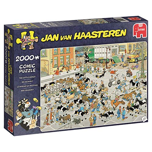 Jan Van Haasteren The Cattle Market 2000 pcs 2000pieza(s) - Rompecabezas (Jigsaw Puzzle, Dibujos, Adultos, Niño/niña, 12 año(s), Interior)