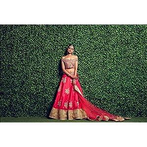 Pushp Paridhan Wedding Wear Machine with hand work Ethnic Wear Coral Pink Off shoulder Birdal Lahenga For Women/Girls