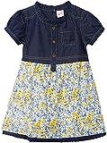 FS Mini Klub Baby Girls' Regular Fit Dress (88TGODR0627 YELLOW PRINT 01_12 - 18 Months, Yellow, 12 - 18 Months)
