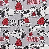 Snoopy Peanuts Joe Cool Grau Meliert Rot Schwarz Melange
