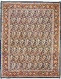 Morgenland Teppiche 397 x 294 cm Orientteppich Blau Handgeknüpft Gemustert