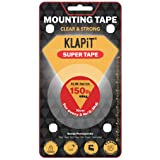 KLAPiT SUPER TAPE Slim 3 Meter Holds 150LB/68kg, Uses Enhanced Nano Technology CLEAR & STRONG Magic Improvement Double Sided