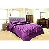 Hotel 4Pcs Stripe Comforter Set, King Size, Purple By Ajaeb Al-Doha, Poly Cotton