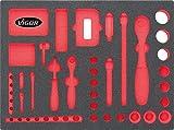 Vigor Weichschaumeinlage Universal-Werkzeugkoffer, 1 Stück, V2464