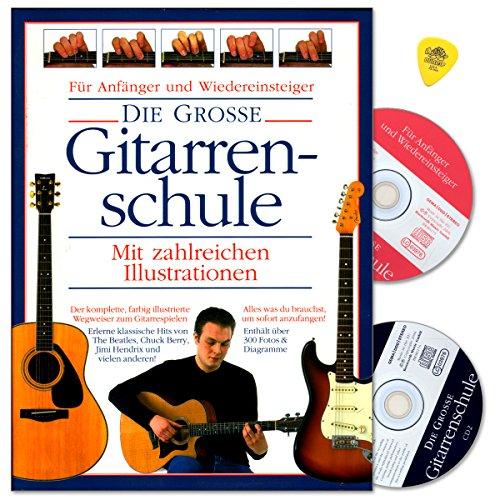 Die Grosse Gitarrenschule - für Anfänger und Wiedereinsteiger - mit zahlreichen Illustrationen - Schule von Joe Bennet, Arthur Dick mit 2 CDs und Dunlop PLEK