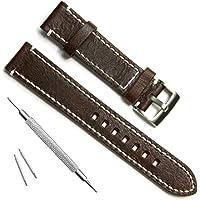 Cinturino sostitutivo in pelle per orologio da polso, fabbricato a mano, stile vintage