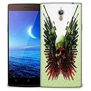 Snoogg Skull With Amunation Designer Protective Back Case Cover For OPPO FIND 7