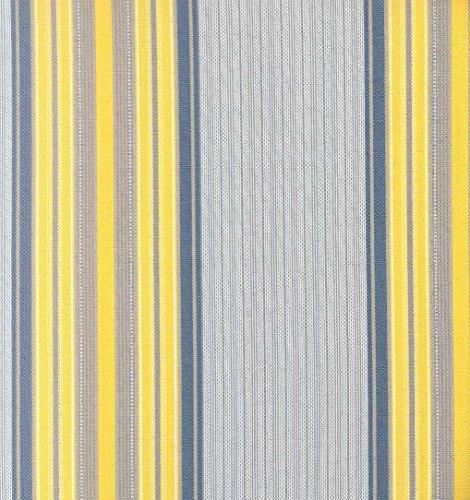 Tenda da Sole con Kit Ganci e Anelli in Tessuto Multirighe Resistente da Esterno o Balcone Misura cm 140x250 Dis.6 Colore Giallo