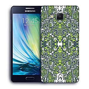Snoogg Abstract Green Pattern Printed Protective Phone Back Case Cover For Samsung Galaxy A5