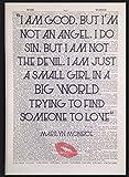 Vintage Marilyn Monroe Zitat Wand Kunstdruck Bild 1933Wörterbuch Seite Love