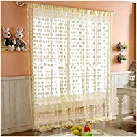 Give creative elegance a hearty welcome to your living space this season with this coloured sheer curtain. Stunning door curtain to add that final touch of decoration to your door or room. This string door curtain comes with slot top for poles or rod...
