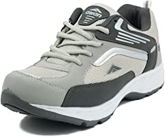 Asian Shoes Future-01 Men's Light Grey Dark Grey Sport Shoe-9Uk