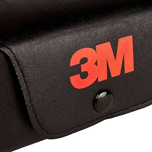 3M Etui1 Festes Brillenetui mit Halteschlaufe für Gürtel groß, Schwarz -