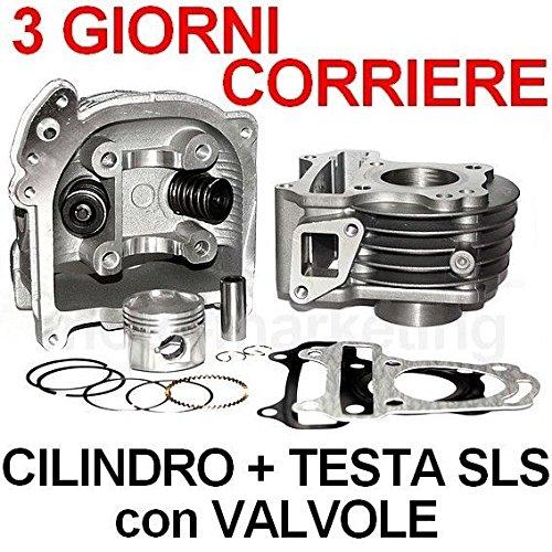 50 cc CILINDRO GRUPPO TERMICO PISTONE TESTA SLS KIT per GARELLI FLEXI VIP XO 4T