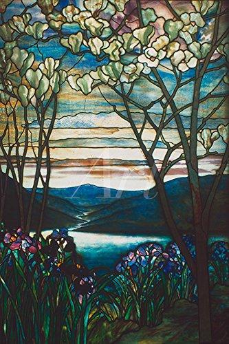 Artland Qualitätsbilder I Wandbilder Selbstklebende Wandfolie 20 x 30 cm Botanik Pflanzen Graphische Kunst Bunt C4JC Magnolia und Iris 1905 (Iris Kunst)