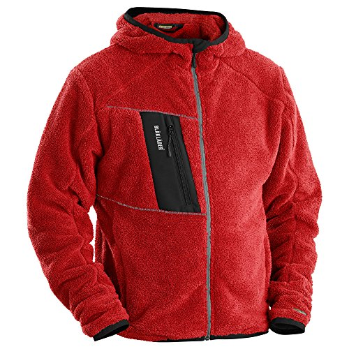 Blåkläder molletonnée veste en fausse fourrure Rouge