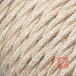 Textilkabel für Lampe, verseilt (geflochten), dreiadrig - 3x0,75mm², Jute - 10 Meter