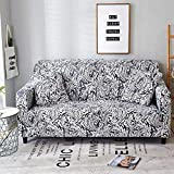 SSDLRSF Floral Leaves Printing Sofa Abdeckung Enge Wrap All-Inclusive Couch Cover für Wohnzimmer Anti-dreckige Möbel Abdeckung 1/2/3/4 Sitzer (90-300cm), Farbe 7,3seater 190-230cm