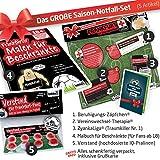 Geschenk-Set: Das große Saison-Notfall-Set für Eintracht Frankfurt-Fans | 5X Überraschungen mit Spaßgarantie für Eintracht Frankfurt Fans Fanartikel f. Männer ALS Hausschuhe, Caps