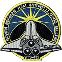 PATCH,TOPPA RICAMATA TERMOADESIVA ,, SPACE SHUTTLE STS-132 PATCH 10 cm,, (Nasa Patch)