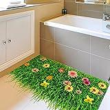 GOUZI stereo Rasen Bodenbeläge und Aufkleber personalisierte Abnehmbare Wall Sticker für Schlafzimmer Wohnzimmer Hintergrund Wand Bad Studie Friseur