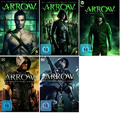 Arrow Staffel 1-5 (1+2+3+4+5) [DVD Set] DC-Comics Serie (Arrow-staffel 1)