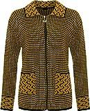 Search : Islander Fashions Womens Leopard Collar Zip Up Knitted Cardigan Ladies Long Sleeve Pocket Jacket S/XXL