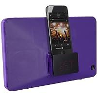 KitSound Fresh Radio Réveil Station d'Accueil avec Connecteur Lightning pour iPhone 5/iPhone SE/5S/5C/6/6 Plus- iPod Nano 7 et iPod Touch 5 - Livré avec Prise UK - Violet