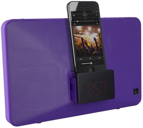 Alarm 6 Dock Plus Iphone (KitSound Fresh Radio Uhr Dockingstation Ladegerät mit Lightning Anschluss für iPhone 5/5S/5C/SE/6/6 Plus/6S/6S Plus, iPod Nano 7. Generation und iPod Touch 5. Generation, mit UK-Netzstecker - Violett)