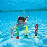Bid Buy Direct® Underwater Pool Diving palle/Toys – Set di 4 palline colorate piscina Sinking | Migliora il nuoto/immersione Skills.