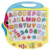 SGILE Spielzeug Holz Zeichnen und Magnetische Buchstaben Zahlen Tiere Magna Gekritzel Lernenbrett Doppelseitig Fischen Schreibenbrett Kindergeschenk