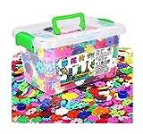 Blocs de neige assemblés blocs Jouets éducatifs pour enfants-1200pc / box