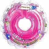 Baby Schwimmer Tüv GS Halsschwimmring Gr. 6-36 kg (0-36 Monate) Schwimmhilfe für Baby Schwimmring Badehilfe Schwimmtrainer in Rosa
