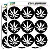 """graphique et plus 5cm """"Feuille de Marijuana Noir"""" Scrapbooking Artisanat Sticker"""