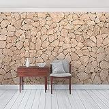 Foto Wand Wandbild Apulia Stein Mauer,–Old Stone Große Steine Mauer–Sandstein Tapete Tapete Wand Wandbild Foto Funktion wall-art Tapete Wandmalereien Schlafzimmer Wohnzimmer, Dimension: 270cm x 432cm