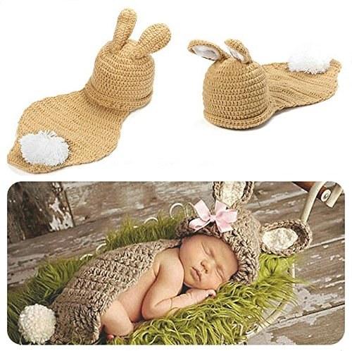 ostüm Fotoshooting Babyfotos Ostern Bunny Hase Braun (BK038) (Baby Bunny-kostüme)