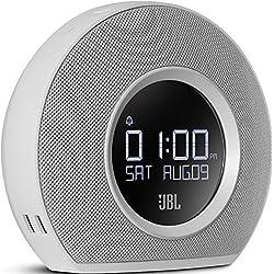 JBL - Horizon Radio - Réveil Bluetooth avec Ports USB de Recharge et Lumière Ambiante - Blanc