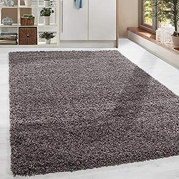homebyhome shaggy hochflor langflor g nstige taupe teppiche wohnzimmer versc gr en