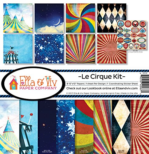 Ella & Viv von Zeiten Le Cirque Scrapbook Collection Kit