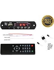 ERH INDIA Bluetooth FM USB AUX Card MP3 Stereo Audio Player Decoder Module Kit Remote